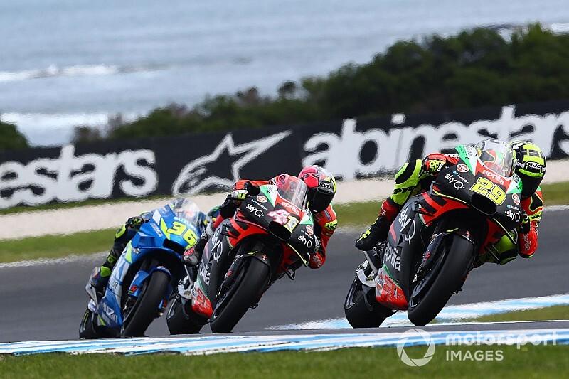 "【MotoGP】「僕らは""最強""だった」アンドレア・イアンノーネ、アプリリア『初』の首位走行に喜び"