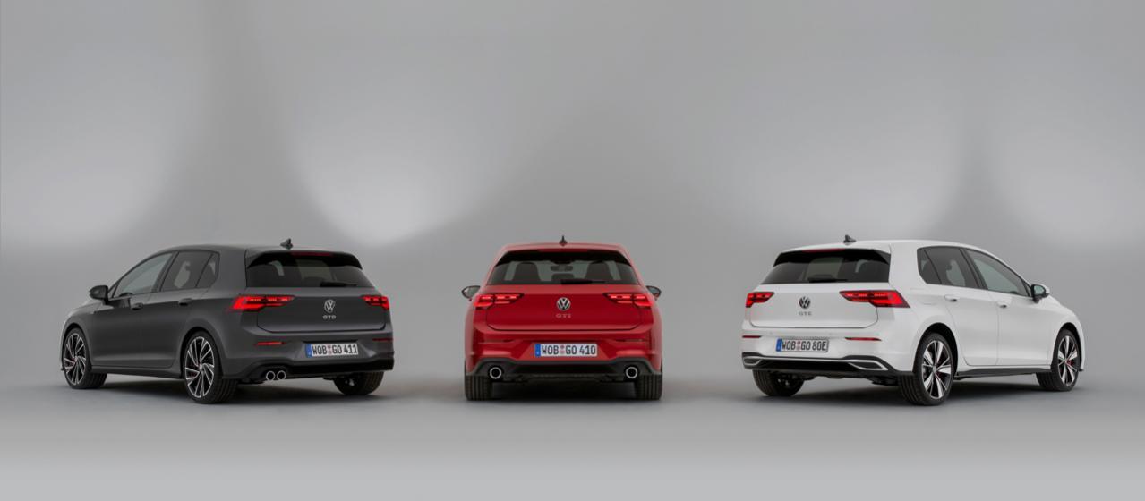 新型フォルクスワーゲン・ゴルフの高性能版「GTI」「GTD」「GTE」がジュネーブ・モーターショー2020で3モデル揃って発表!