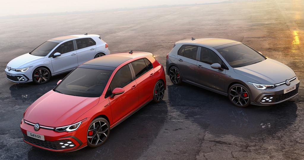 新型「フォルクスワーゲン・ゴルフ」の高性能版、「GTI」と「GTD」、「GTE」が一挙フォトデビュー!