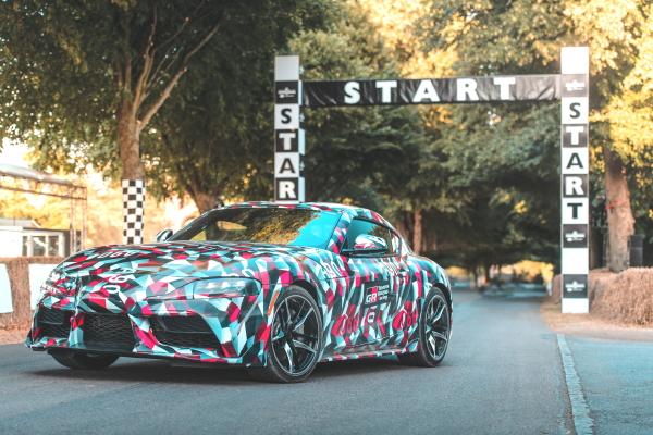 トヨタ、「スープラ」試作車の走行を「グッドウッド・フェスティバル・オブ・スピード」で初披露