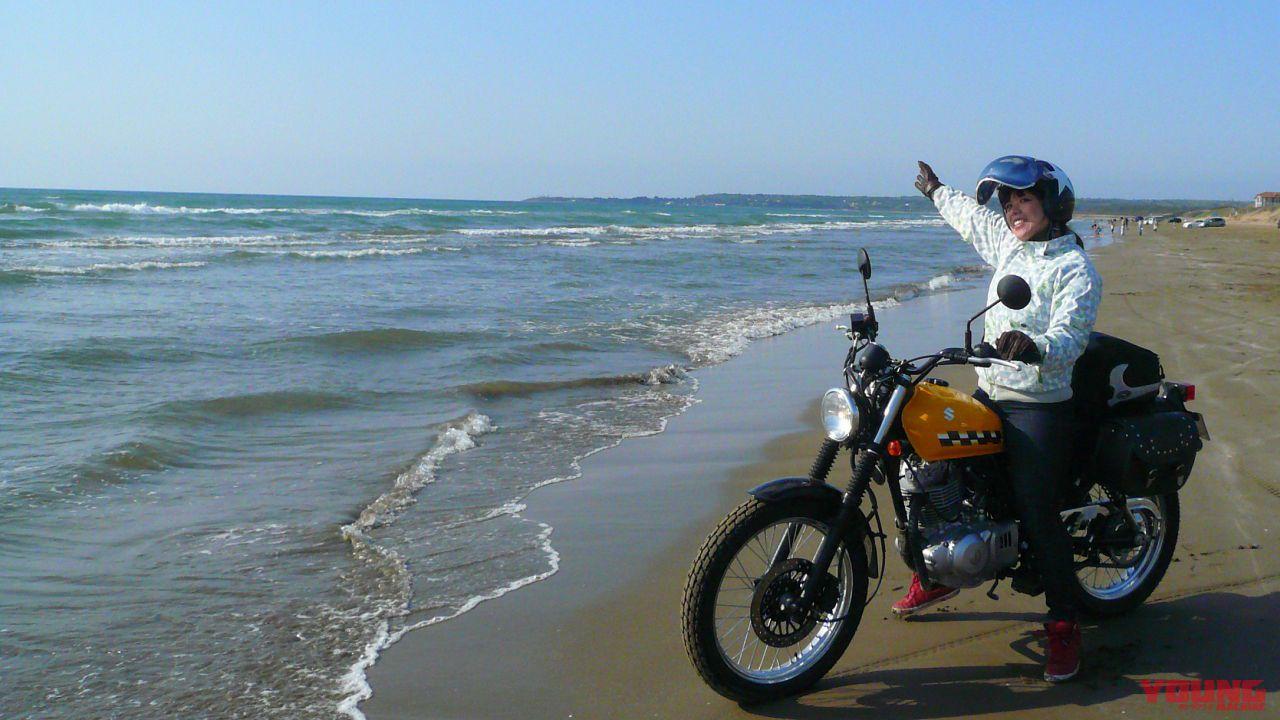 バイクで巡るニッポン絶景道:石川県 千里浜なぎさドライブウェイ【 潮風感抜群の波打ち際を疾走】