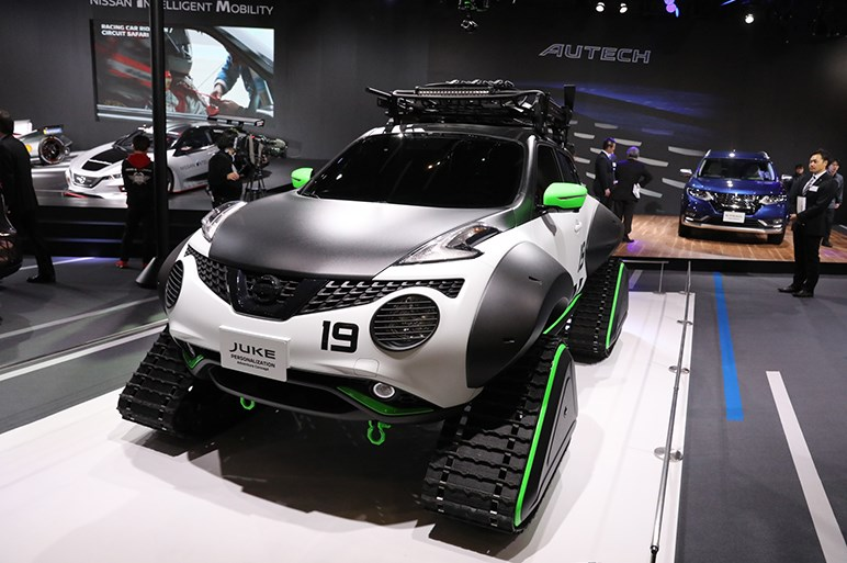 【東京オートサロン2019】日産からはジュークのアドベンチャー仕様車や大坂なおみコラボモデルが登場