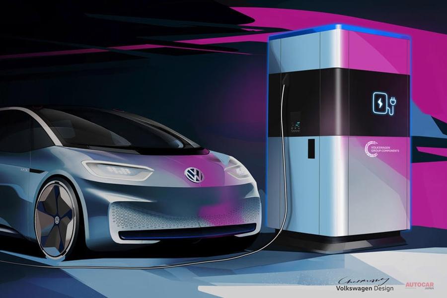 VW 移動可能な超高速充電ステーション計画 17分で80%充電 インフラ機能拡充へ