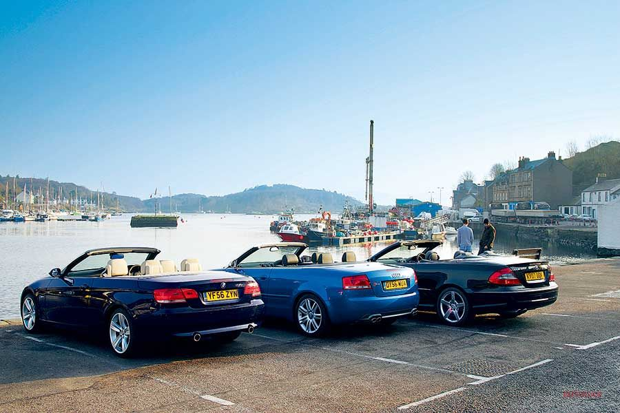 Dセグ・カブリオレ対決 メルセデスCLK350 vs アウディS4 vs BMW 335i(回顧録12)