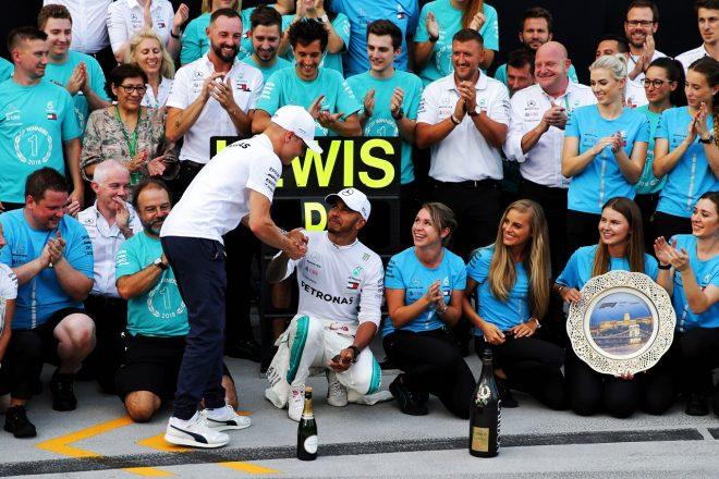 ハミルトンがシーズン5勝目「ボッタスがいなければフェラーリに勝てなかったかもしれない」:F1ハンガリーGP日曜