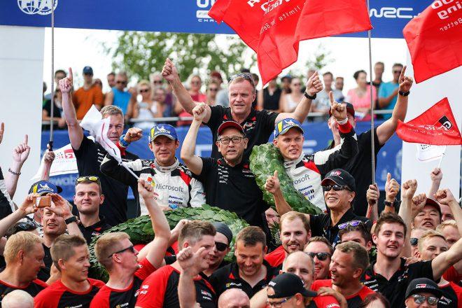 WRC:トヨタ、ホームのフィンランド連勝。マキネン「オットは信じられないような走りを続けた」