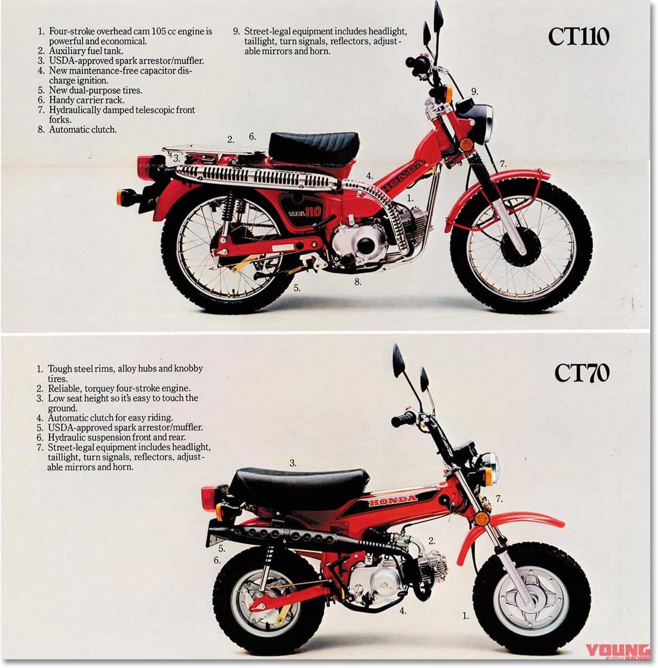 """ホンダ新型CT125への道 """"ハンター""""の系譜を辿る【'70年代~現代のクロスカブへ】"""
