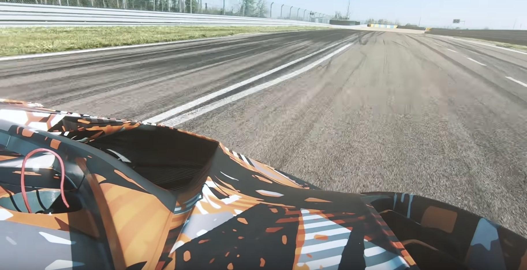 ランボルギーニ、サーキット専用ハイパーカーの動画を公開