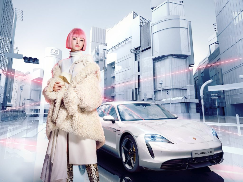 ポルシェ ジャパン、タイカンのプロモーションとしてバーチャルモデルの「imma」を起用