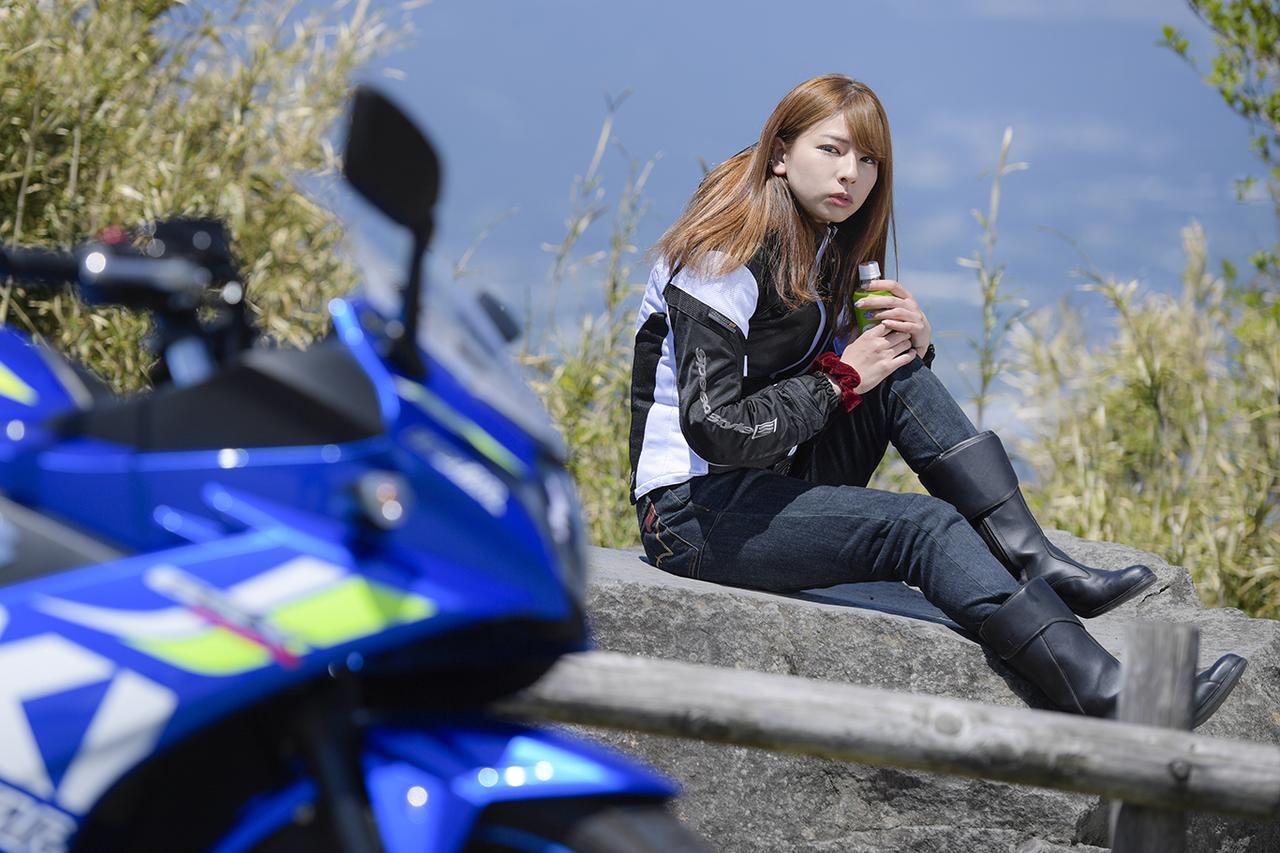 葉月美優×SUZUKI GSX250R in 箱根【オートバイ女子部のフォトアルバム】