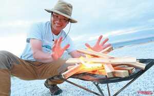 炭火で焼けば何でも美味い、キャンプ焚き火に挑戦【ソロで楽しむバイクキャンプ入門】