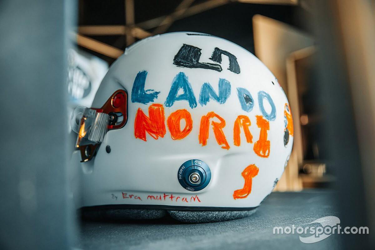 ランド・ノリス、6歳の少女がデザインしたヘルメットで母国イギリスGPに挑む「小さい頃を思い出すよ!」