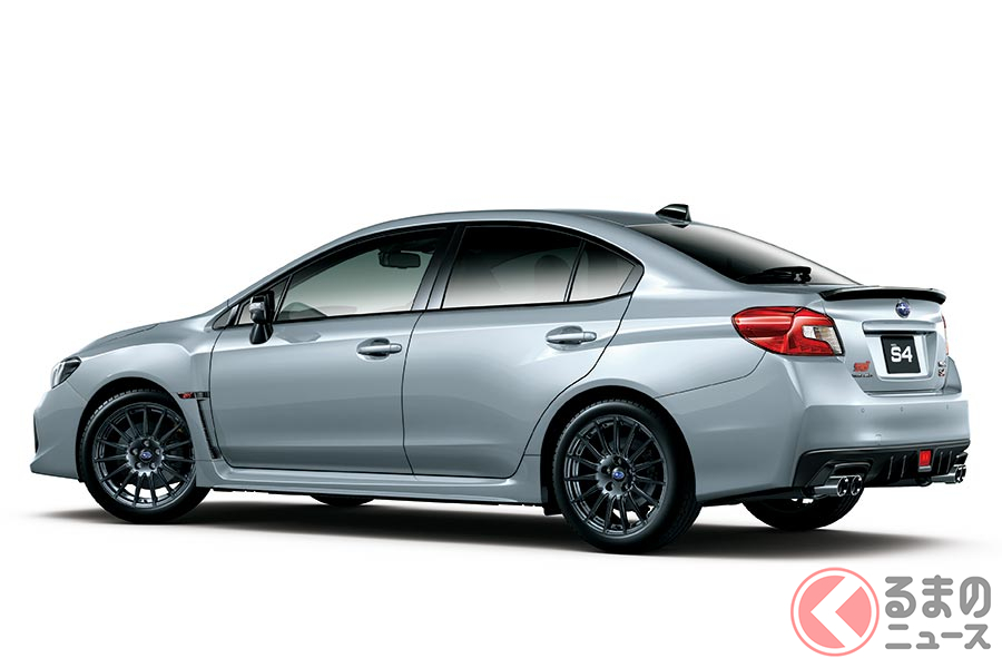 スバル「WRX S4」最上級「STIスポーツ アイサイト」に統一! WLTCモード燃費へ対応