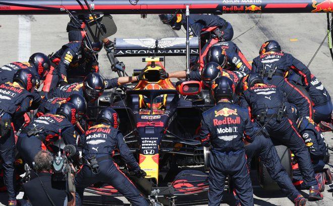 【レース後会見の気になる一言】メルセデスF1と異なる戦略で優勝を狙っていたレッドブル「我々は非常に強力だった」
