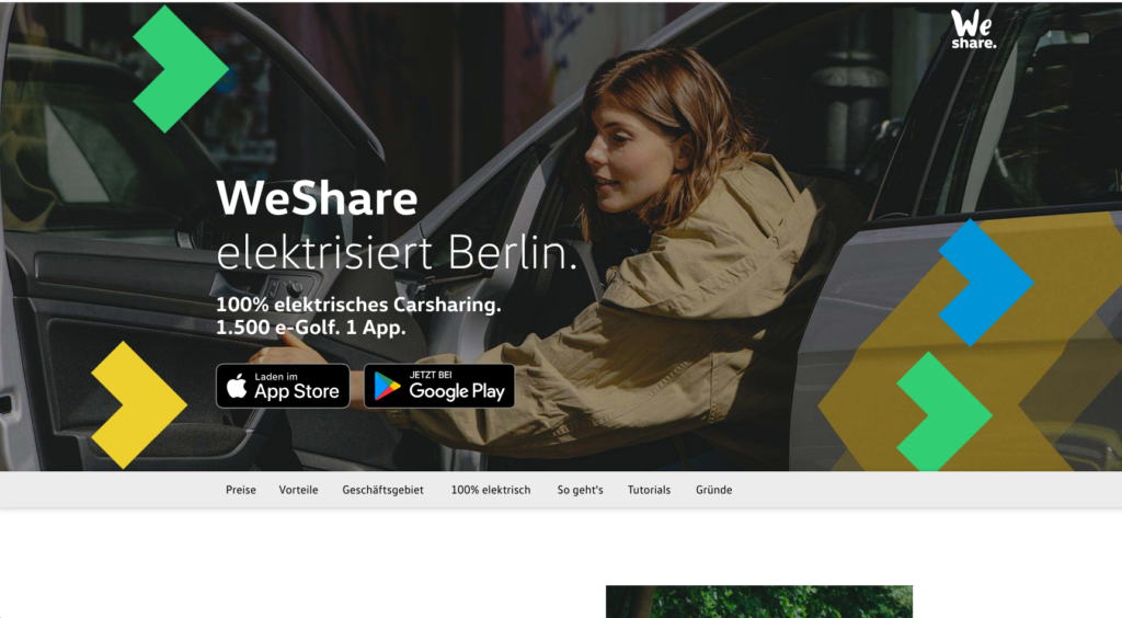 100パーセントEVだけのカーシェアリング!VW主導で始まった新しいサービス「WeShare」
