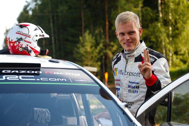 WRC:トヨタ、フィンランド初日は首位発進。「クルマには高い戦闘力がある」とタナク
