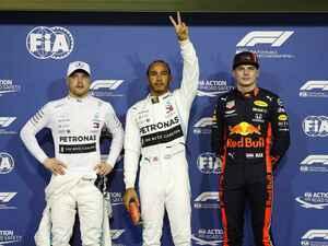 F1第21戦アブダビGP予選、ハミルトンが久々のポール、フェルスタッペンはフロンロウから決勝スタート【モータースポーツ】