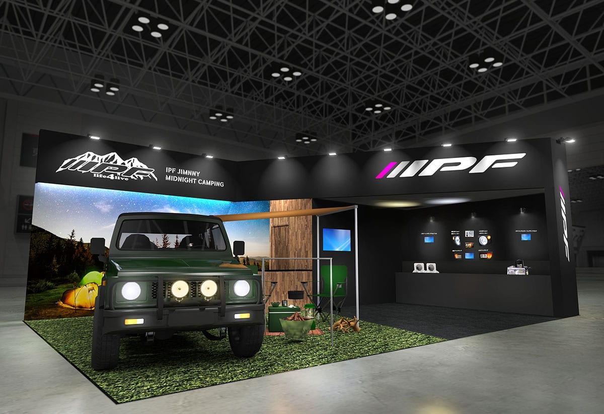 【東京オートサロン出展情報】IPFが新型ジムニーでキャンピングスタイルを提案