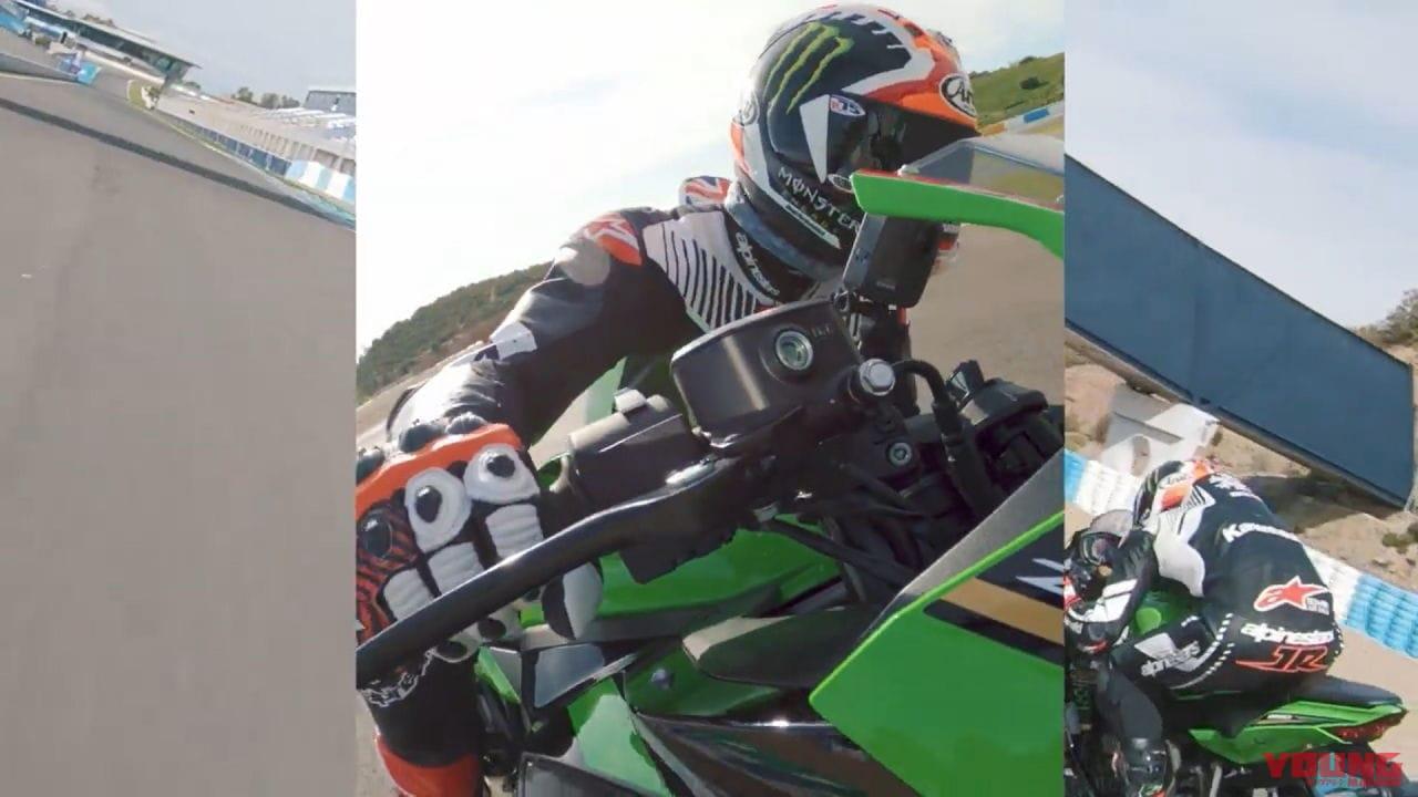 【映像】ニンジャZX-25R×ジョナサン・レイが疾走! 第2弾はヘレスのコーナリングだ!