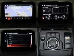 ナビゲーションをはじめ、オーディオや各種車両装備、安全疎美の設定はシフトレバー手前にあるコマンダーコントロールで操作。ディスプレイに触れず姿勢を崩さずに目的の項目へ操作ができます。