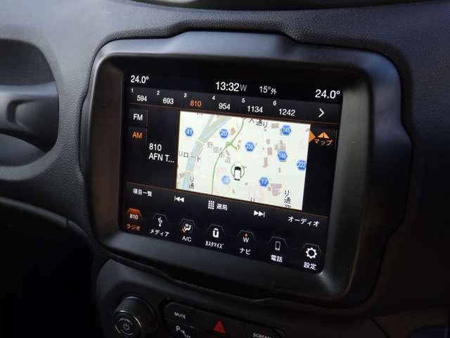 純正Ucconectシステム搭載。お車の設定はもちろんここで出来ます。