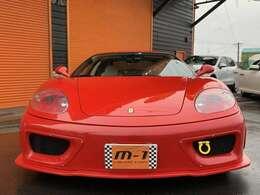 平成13年式(01y)フェラーリ360モデナF1!正規ディーラー車!左ハンドル!FABULOUSエアロ付!チャレンジグリル付!AVS-T5鍛造ホイル付!可変バルブ付マフラー付!純正車高調付!