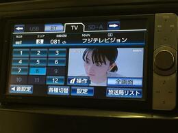テレビを視聴できるナビです。またオーディオ機器をつなげて音楽再生もできます。