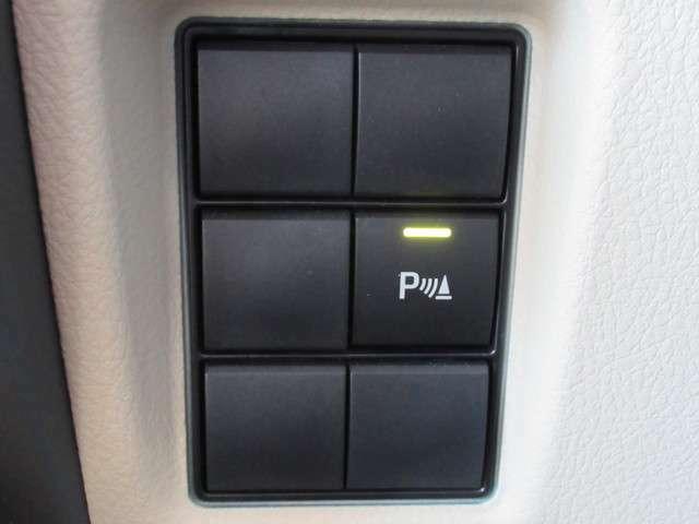死角の多いSUVにはあると嬉しいクリアランスソナー搭載。