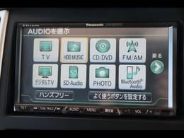 純正7型HDDナビを装備。フルセグTV、DVD再生可能、音楽の録音も可能です。