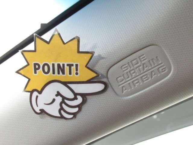 サイド&カーテンエアバック装着車で安全です。