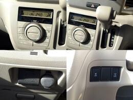 エアコンはオートです!車内の温度設定は自動で行ってくれます。
