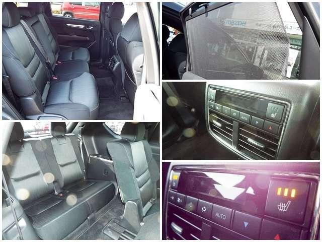 後席空間のベンチレーション機能も充実!後席ドアにはサンシェード搭載です!