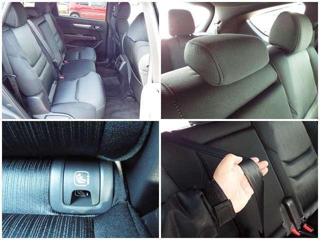 ゆったり座れる後席です!ISO規格のチャイルドシート取り付け可能です!