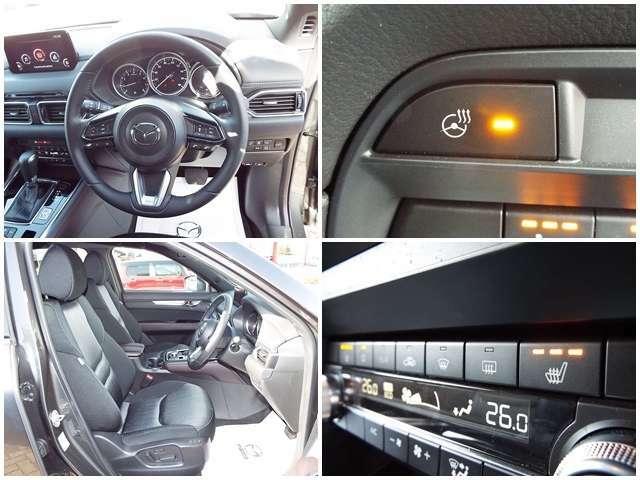 【快適な装備】運転席、助手席はシートヒーター搭載!ステアリングヒーター搭載!
