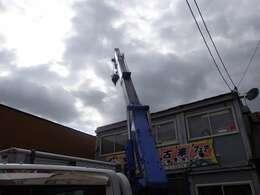 ブームの状態も良く4段ブームなので、遠くのものでも吊り上げ可能です。ブームの曲がりやワイヤーなどの状態も良好です。