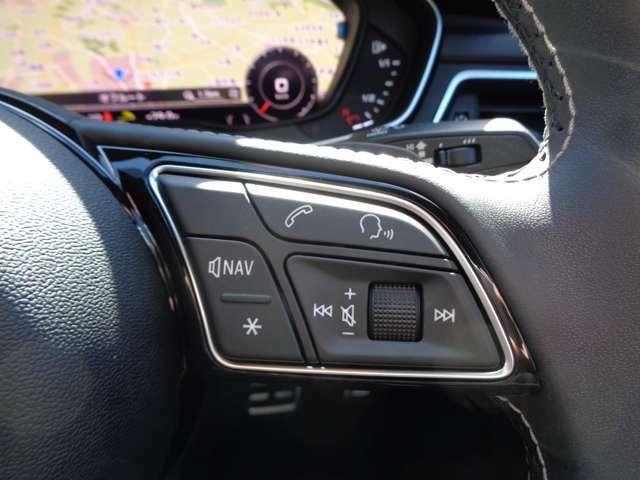 Bluetooth対応により携帯と接続して走行中に電話できます