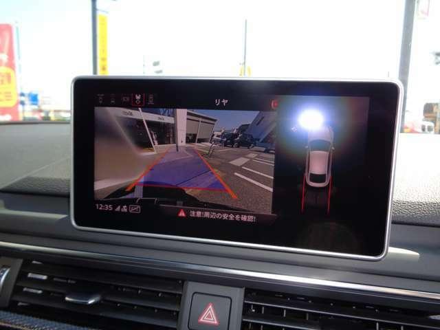 サラウンドビューモニター クリアランスソナー付きのダブル機能で視界性良好!