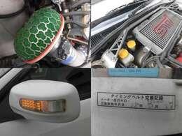 HKSエアクリ タワーバー LEDウインカーミラー タイベル交換済み