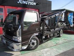 日産 アトラス 5.2 ワイド セミロング フルスーパーロー ディーゼルターボ 積載車 2台積み ラジコン フル整備