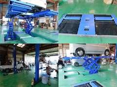 自社工場併設しており急なトラブルにもご対応させて頂きます。積載車も完備しておりますのでご安心下さい。