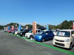 軽自動車からコンパクト・SUV・ミニバン・外国産車など取り扱い車種多数ご用意いたしております!