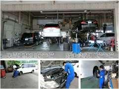 中国運輸局指定工場、鈑金工場ともに大変ご好評いただいております。お車のご購入後のメンテナンスもお任せください!
