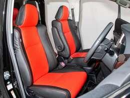当社にて新品黒×赤本革に貼り替え済になります!!シートカバーではございません!!当社熟練の職人による本革張りになります!