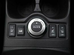 【ALL-MODE 4x4-i】走行状況や路面状況に応じて2WD⇔4WD(AUTO)の切り替えが可能です☆普段は2駆で、アウトドアな時は4駆でといった使い分けで燃費調整にも役立ちます☆