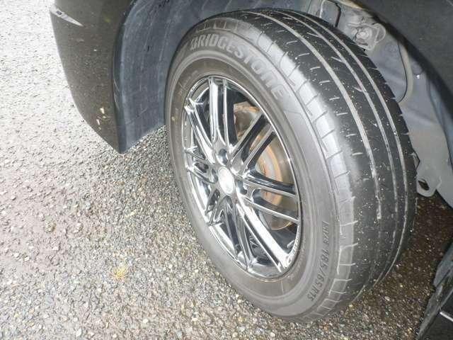 タイヤの山もまだ大丈夫な感じです。