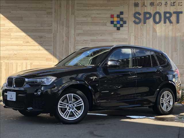 平成26年式 後期 BMW X3 Xドライブ20d Mスポーツ入庫しました。お問い合わせは052-625-4092まで!1オーナー インテリセーフ 純正HDDナビTV Bカメラ 黒革 シートヒーター・メモリー パワーバックドア