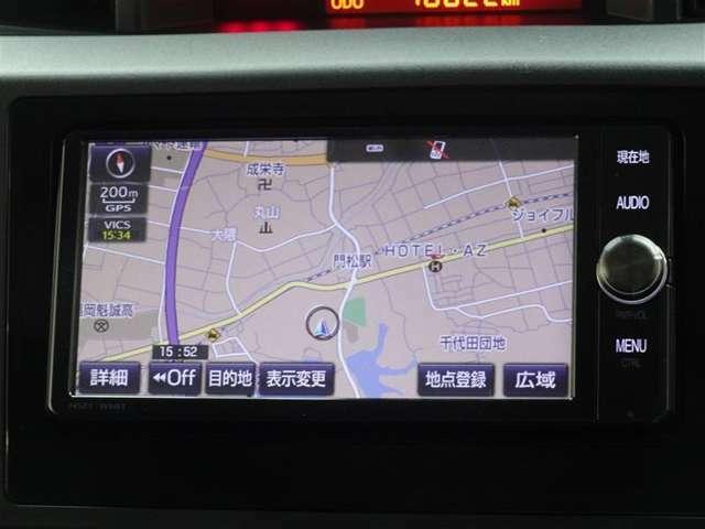 何処でも行きたい場所へ、安心のトヨタ純正メモリーナビを装備してます。