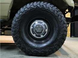 タイヤ・ホイールは在庫があったので新品に交換しました☆新品輸出用ホイール・新品M/Tタイヤ BF GOODRICH KM3☆