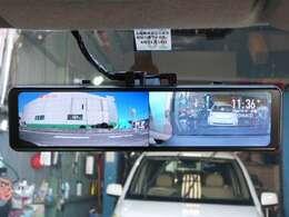 ドライブレコーダ機能付12インチデジタルルームミラー装備♪フロント&リアをしっかり監視☆ミラーはOFFモード・フロント表示・リア表示・フロント&リア表示の切り替えが可能です☆