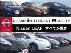 【NISSAN INTELLIGENT MOBILITY】Nissan LEAFすべてが驚き。話題の電気自動車多数展示しております。乗って体感『日産 リーフ』